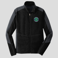 Men Jacket - Colorblock Microfleece Jacket
